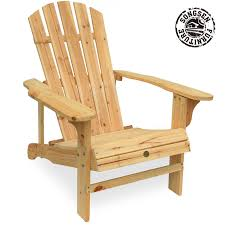 Outdoor Wood Furniture Amazon Com Songsen Outdoor Log Wood Adirondack Lounge Chair