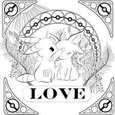umbreon espeon pokemon coloring page free to color artist credit