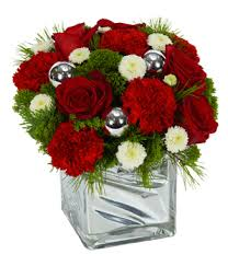 Red Carnations Shimmering Bright Holiday Wishes At From You Flowers