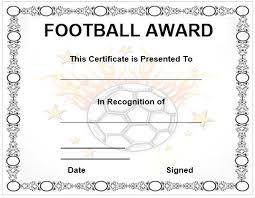 100 football certificate templates free halloween best costume