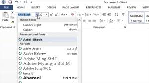 Best Resume Font Size For Calibri by How To Change The Font Family And Font Size In Microsoft Word 2013