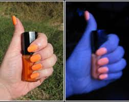 orange nail polish etsy