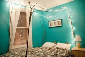 blue string lights for bedroom romantic bedroom lighting ideas with blue wall paint bedroom string