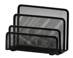 Black Wire Mesh Desk Accessories by Osco Mesh Letter Holder Black Amazon Co Uk Office Products