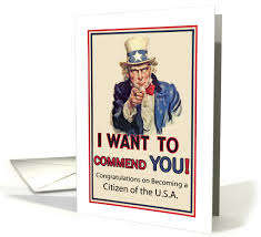 citizenship congratulations card congratulations on u s a citizenship sam american 837301