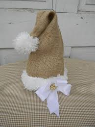 burlap santa hat vanessa etsy christmas memories pinterest