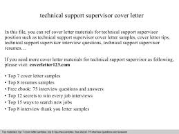 cover letter technical support