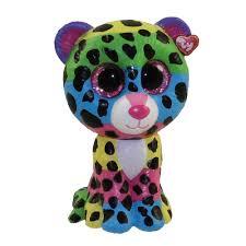 ty beanie boos mini boo figures dotty rainbow leopard 2