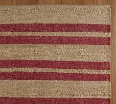 Pottery Barn Jute Rugs Chindi Striped Jute Rug
