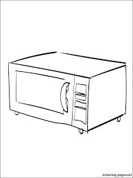 coloring pages of kitchen things microwave oven coloring page coloring pages