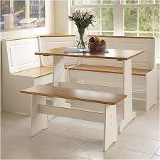 Kitchen Nook Furniture Set Breakfast Corner Nook Table Set In White K90305wht Ab Kd U