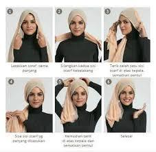 tutorial turban sederhana tutorial hijab modern turban untuk kebaya cara memakai jilbab
