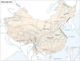 Asia Rivers Map by China Maps Map Of China China Map In English China City And