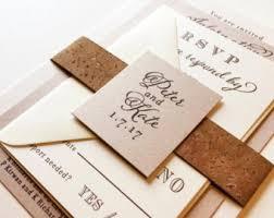cork invitations etsy