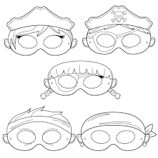 pirates printable coloring masks pirate mask captain