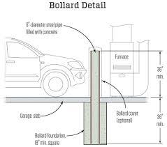 creating a bollard jlc online concrete structure foundation creating a bollard jlc online concrete structure foundation garage