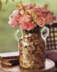 Pink Vase Fillers Centerpiece Button Vase Fillers My Style Pinterest