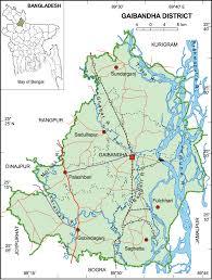 Map Of Bangladesh Gaibandha District Upazila Wise Mouza Maps U0026 Information