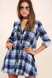 black and blue plaid dress sleeve plaid dress plaid