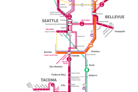 Seattle Light Rail Map Sound Transit U0027s 54 Billion St3 Plan Approved Heads To November