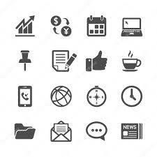 jeu de travail au bureau entreprise et bureau de travail jeu d icônes vecteur eps10 image