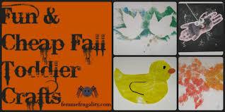 fun u0026 cheap fall toddler crafts femme frugality