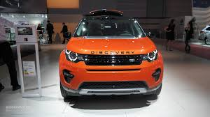 land rover discovery sport red land rover discovery sport makes its paris debut live photos