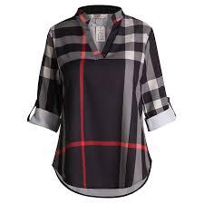 Scotch Plaid Aliexpress Com Buy Women Scotch Plaid Blouse Blusas Blouse V