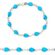 tennis blue bracelet images Fine blue turquoise enamel 925 sterling silver tennis bracelet JPG