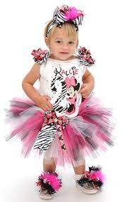 girls bling minnie mouse zebra number bow tutu set