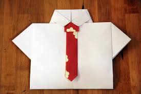 How To Fold Paper For Envelope Shirt And Tie Card 10 Steps With Pictures