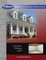 safedrain waterproofing system basement drainage safebasements