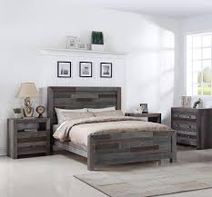 King Bed Platform Frame Angora Reclaimed Wood King Size Platform Bed Storm Zin Home