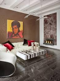 Altstadt Interiors Interior Brown Textured Wooden Wall Grey Modern Farbric Bench