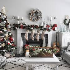 christmas mantel a white and christmas mantel suburble