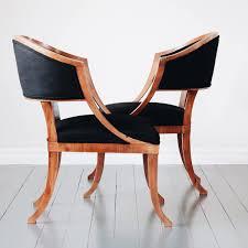 M S Armchairs Fine Pair Of Swedish 19th Century Gustavian Barrel Back Armchairs