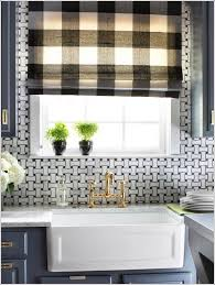 black gingham kitchen curtains red plaid walmart kitchen curtains