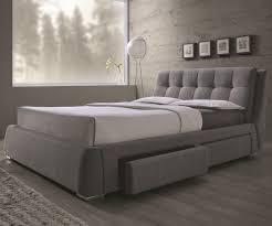 coaster 300523ke fenbrook grey upholstered eastern king storage bed