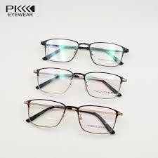 blue light prescription glasses man glasses metal frames with anti blue light clear lens square
