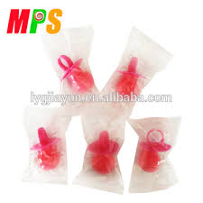 pacifier shaped candy 14g it s a girl bright pink baby pacifier shape candy buy