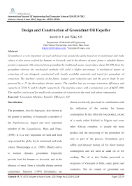 design and construction of groundnut oil expeller pdf download