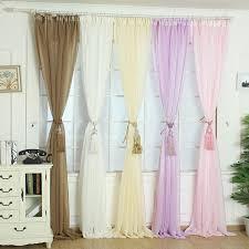 elegant tulle door window curtain drape panel sheer scarf valances