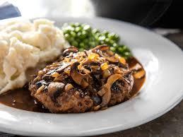 salisbury steak with mushroom brown gravy recipe serious eats
