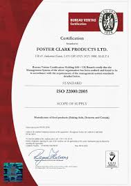 bureau veritas vacancies quality food safety and certification foster clark products ltd