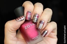 nail art tartan pattern nail design 26gnai polished polyglot