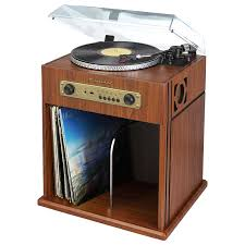 Record Storage Cabinet Studebaker Stereo Turntable With Bluetooth Receiver And Record