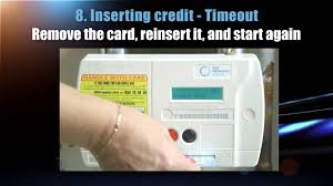 prepaid gas card how to use your prepayment gas meter