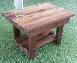 Redwood Patio Table Patio End Table