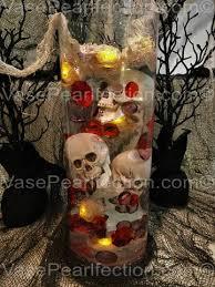 Brown Vase Fillers Halloween Floating Skulls Diamonds And Pearls Vase Fillers For