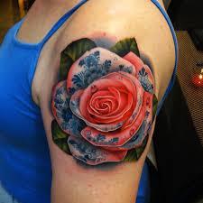 tattoo rose arm tattoo rose ornament red arm tattoo tattoo for women nature